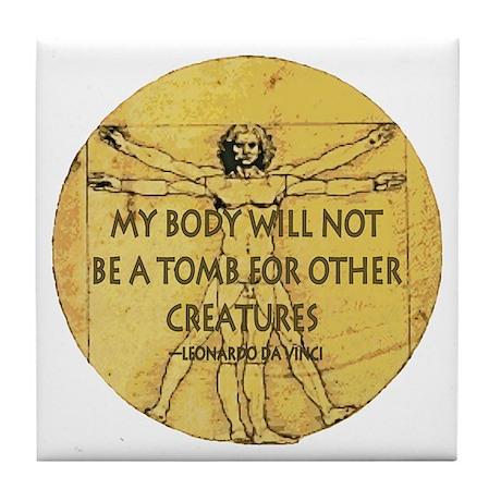 Body Tomb Tile Coaster