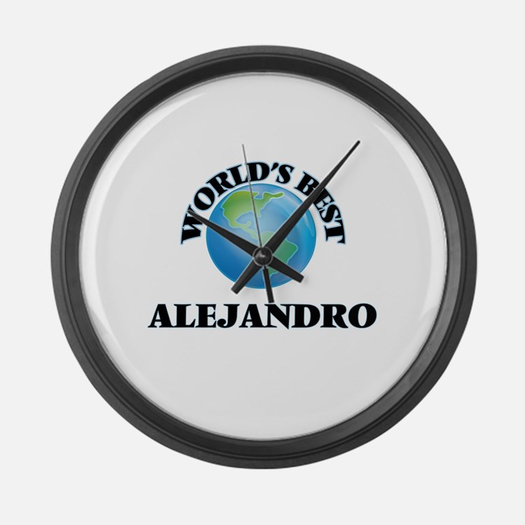 World's Best Alejandro Large Wall Clock