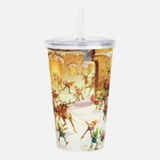 Santa's Elves at the N Acrylic Double-wall Tumbler