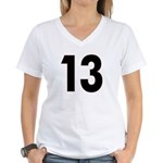 Cursed 13 Women's V-Neck T-Shirt