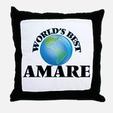 World's Best Amare Throw Pillow