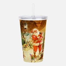 Santa in the North Pol Acrylic Double-wall Tumbler