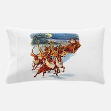 Santa & His Flying Reindeer Pillow Case