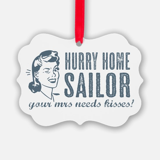 Hurry Home Sailor Ornament