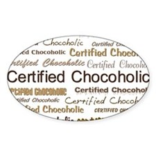 Certified Chocolate Oval Decal