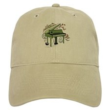 abstract piano (color) Baseball Cap