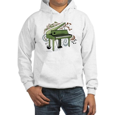 abstract piano (color) Hooded Sweatshirt