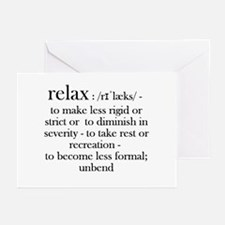 Relax, Fun Dictionary Reminder For Greeting Cards
