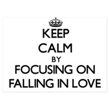 Keep Calm by focusing on Falling In Lo Invitations