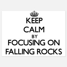 Keep Calm by focusing on Falling Rocks Invitations