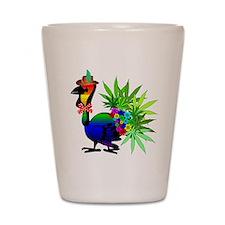 Rainbow Marijuana Thanksgiving Turkey Shot Glass