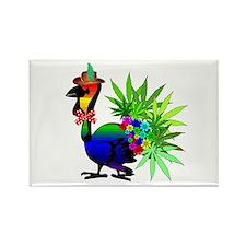Rainbow Marijuana Thanksgiving Tu Rectangle Magnet