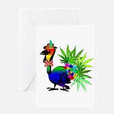 Rainbow Marijuana Thanksgiving Turke Greeting Card