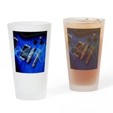 blue electric guitar Drinking Glass