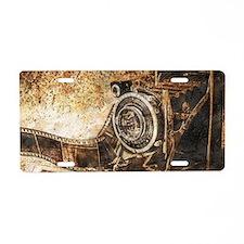 Antique Old Photo Camera Aluminum License Plate