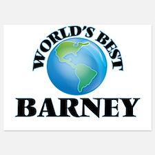 World's Best Barney Invitations