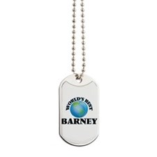 World's Best Barney Dog Tags