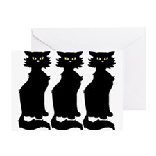 Yellow-Eyed Cats Greeting Cards (6)