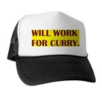 will work for curry Trucker Hat