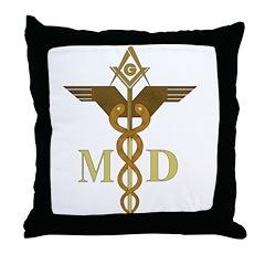Masonic Medical Doctors Throw Pillow