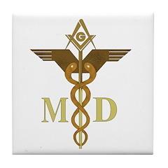 Masonic Medical Doctors Tile Coaster