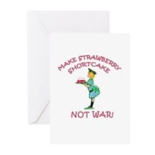 Make Shortcake Not War Greeting Cards (Package of