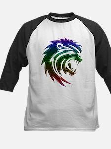 Rainbow Lion Head Baseball Jersey