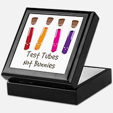 test tubes Not Bunnies Keepsake Box