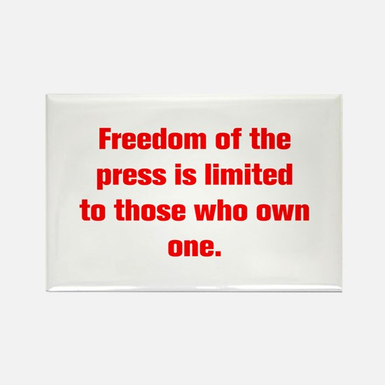 Freedom of the press is limited to those who own o
