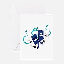 Drama Masks Greeting Cards