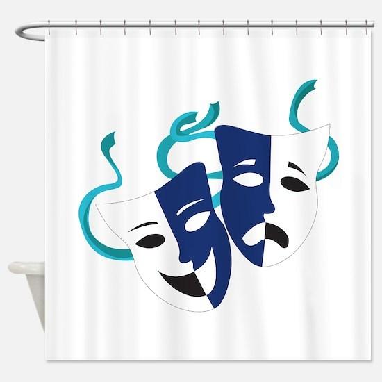 Drama Masks Shower Curtain