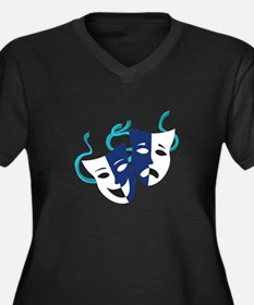 Drama Masks Plus Size T-Shirt