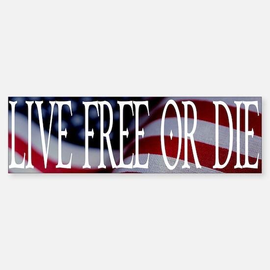 LIVE FREE OR DIE Bumper Bumper Bumper Sticker