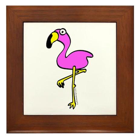 Flamingo! Framed Tile