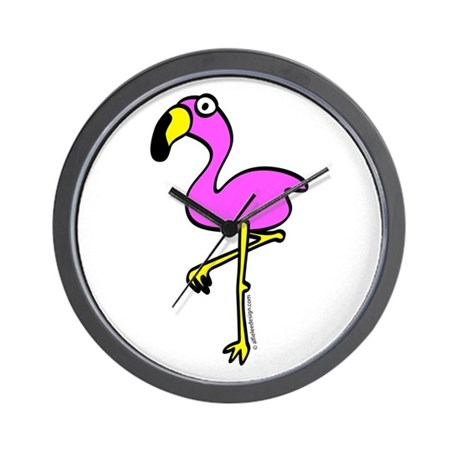 Flamingo! Wall Clock