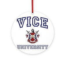 VICE University Ornament (Round)