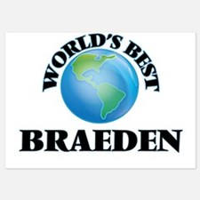 World's Best Braeden Invitations