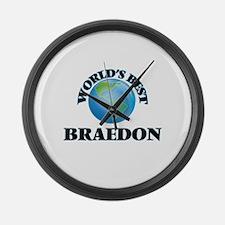 World's Best Braedon Large Wall Clock