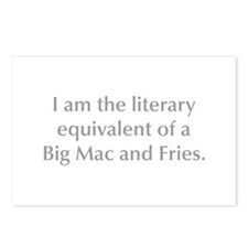 I am the literary equivalent of a Big Mac and Frie