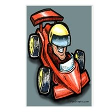 Cute Car racing Postcards (Package of 8)