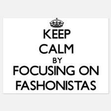 Keep Calm by focusing on Fashonistas Invitations