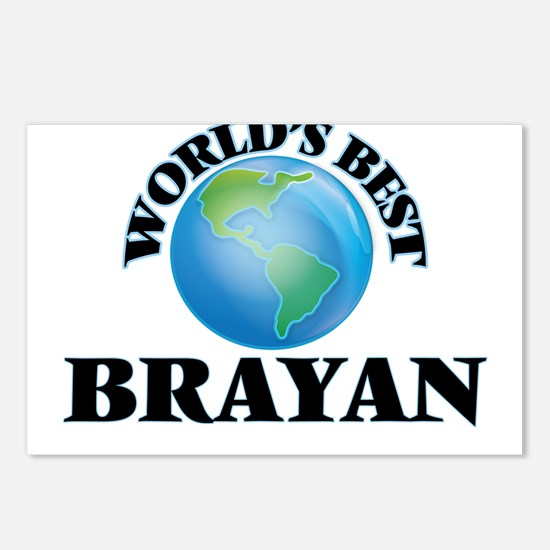 World's Best Brayan Postcards (Package of 8)