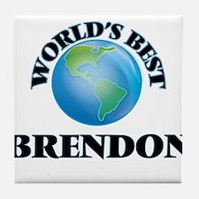 World's Best Brendon Tile Coaster