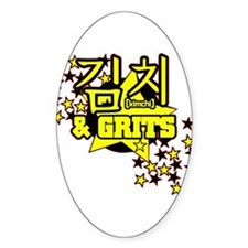 Kimchi & Grits Oval Decal