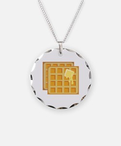 Buttered Waffles Necklace