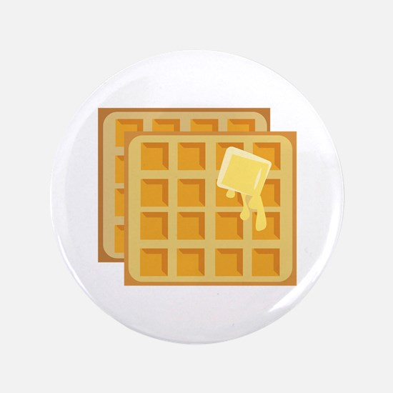 "Buttered Waffles 3.5"" Button"