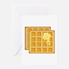 Buttered Waffles Greeting Cards