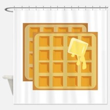 Buttered Waffles Shower Curtain
