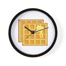 Buttered Waffles Wall Clock