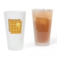 Buttered Waffles Drinking Glass